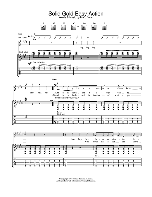 Solid Gold Easy Action Sheet Music