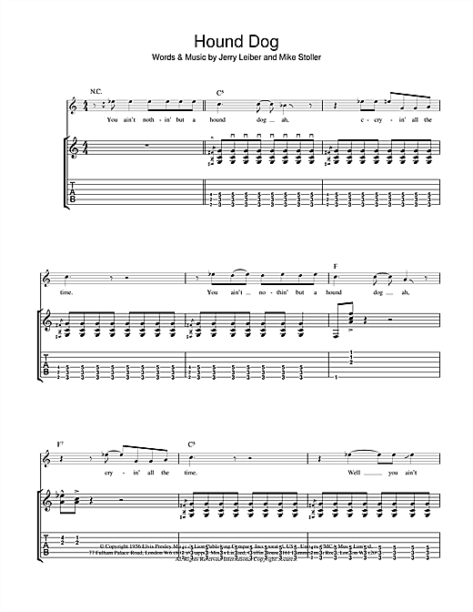 Hound Dog (Guitar Tab)