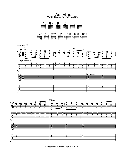 I Am Mine Sheet Music