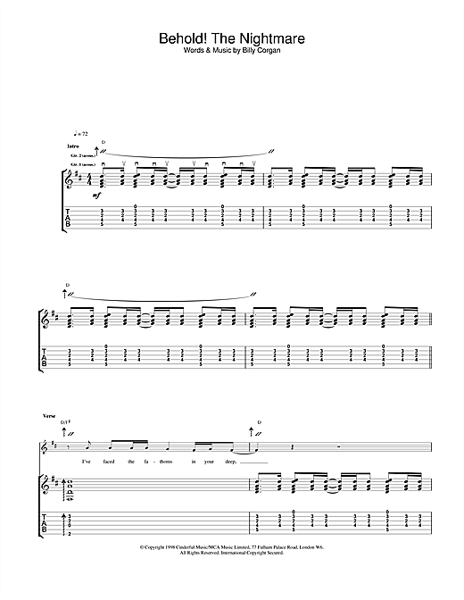 Behold! The Nightmare (Guitar Tab)