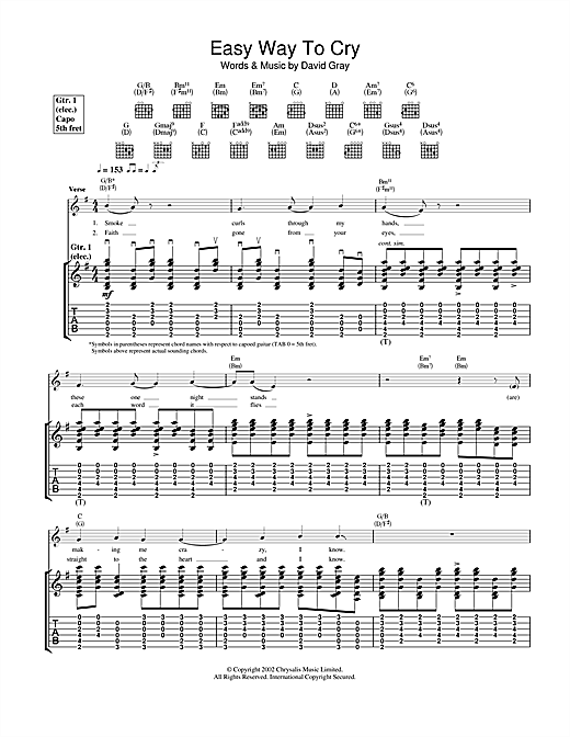 Easy Way To Cry Sheet Music