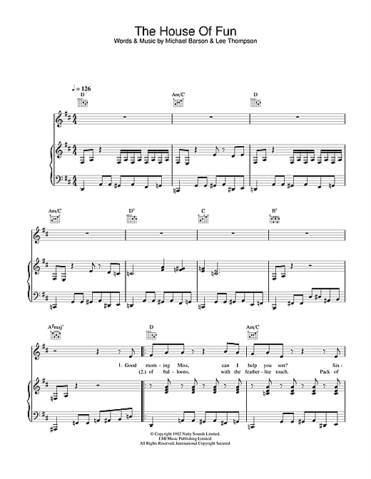 The House Of Fun Sheet Music