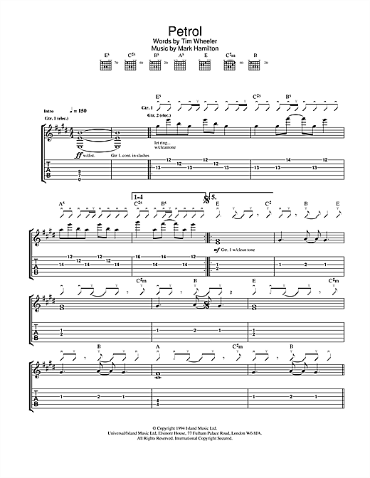 Petrol Sheet Music