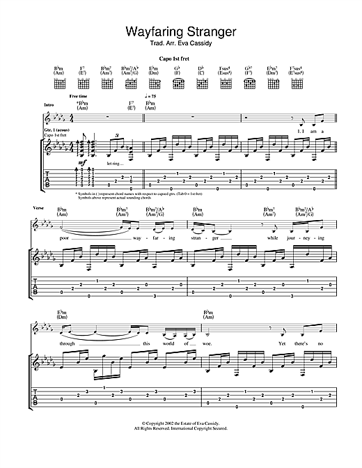 Wayfaring Stranger Sheet Music