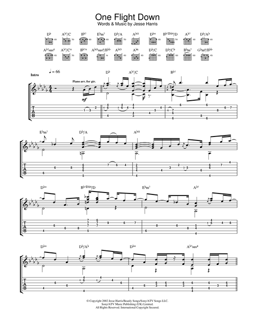 One Flight Down Sheet Music