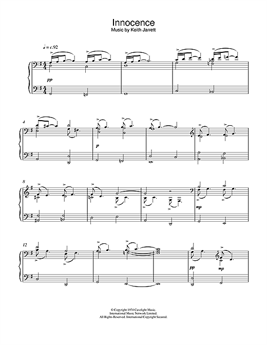 Innocence Sheet Music