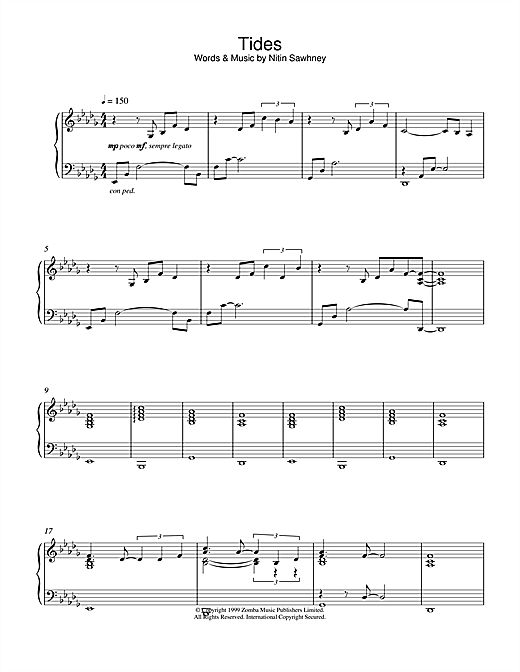 Tides Sheet Music
