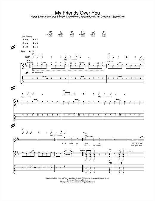 My Friends Over You Sheet Music