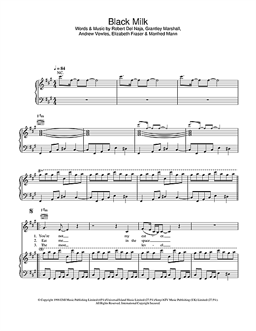 Black Milk Sheet Music