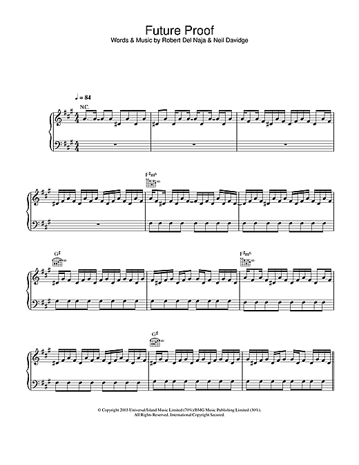 Future Proof Sheet Music