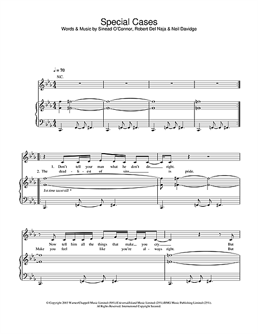 Special Cases Sheet Music