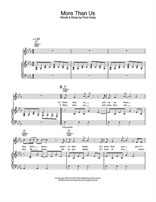 More Than Us Sheet Music