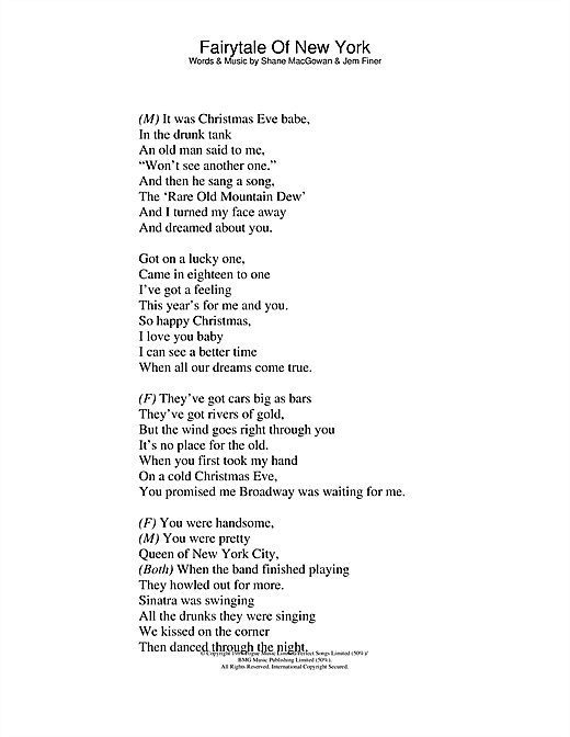 Fairytale Of New York Lyrics Chords And Tin Whistle Notes