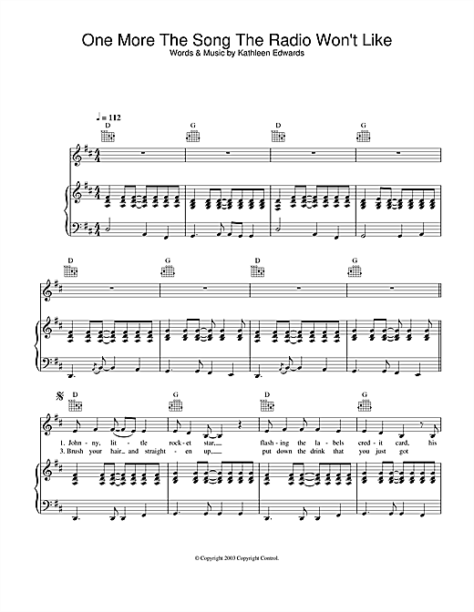 One More The Song The Radio Won't Like Sheet Music
