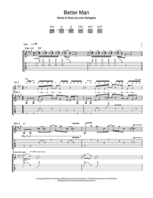 Better Man Sheet Music