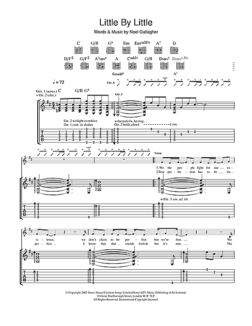 Little By Little Sheet Music