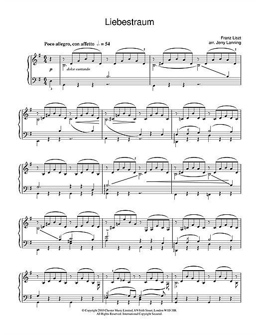 Liebestraum No.3 (Dream Of Love) Sheet Music