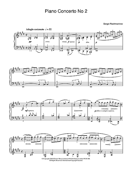 Piano Concerto No 2 Sheet Music