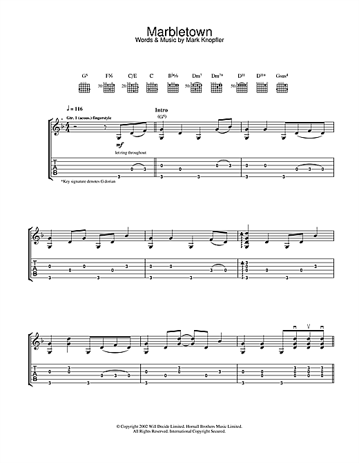 Marbletown Sheet Music