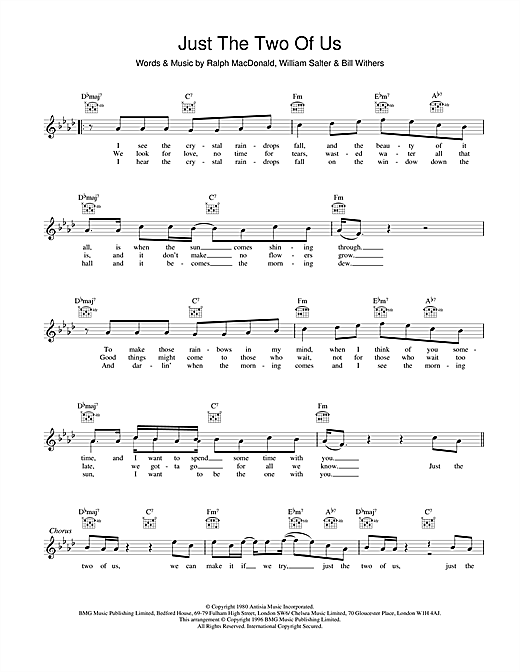 Just The Two Of Us Sheet Music