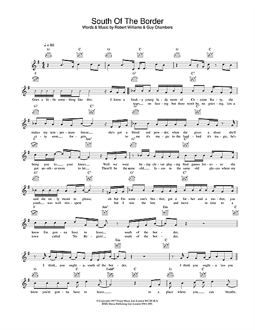 South Of The Border Sheet Music
