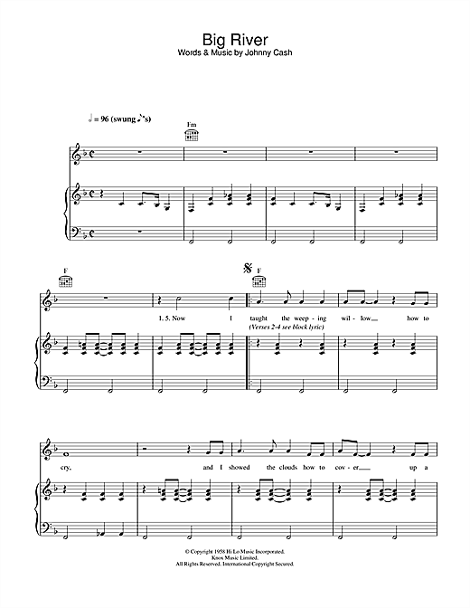 Big River Sheet Music