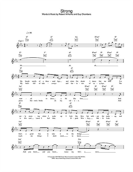 Strong (Lead Sheet / Fake Book)