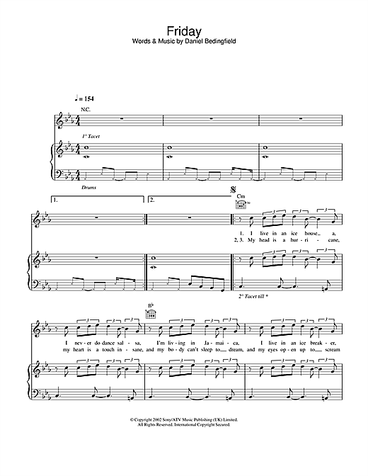 Friday Sheet Music