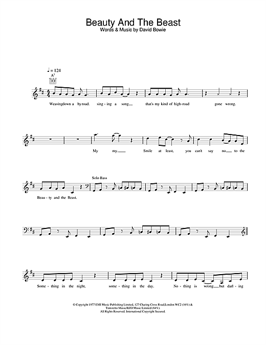 Beauty And The Beast Sheet Music