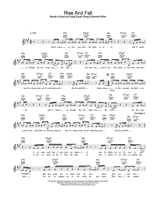 Rise And Fall Sheet Music