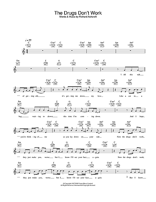 The Drugs Don't Work (Lead Sheet / Fake Book)