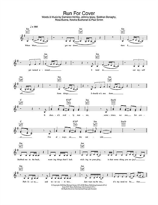 Run For Cover Sheet Music