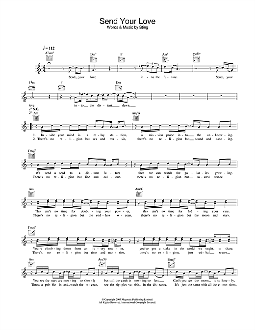 Send Your Love Sheet Music
