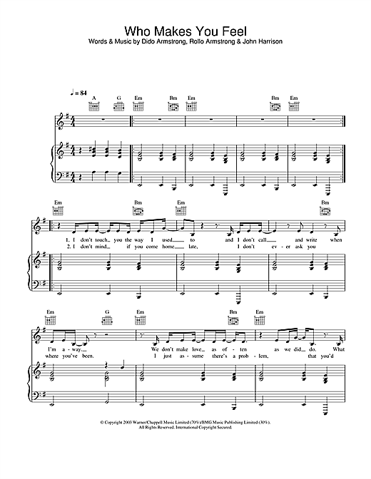Who Makes You Feel Sheet Music