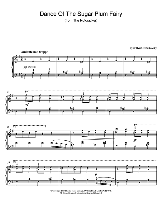 Dance Of The Sugar Plum Fairy (from The Nutcracker) Sheet Music