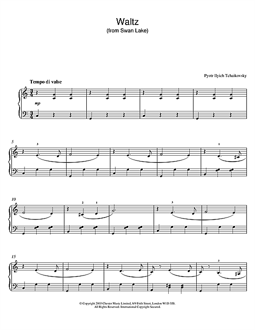 Waltz (from Swan Lake) Sheet Music