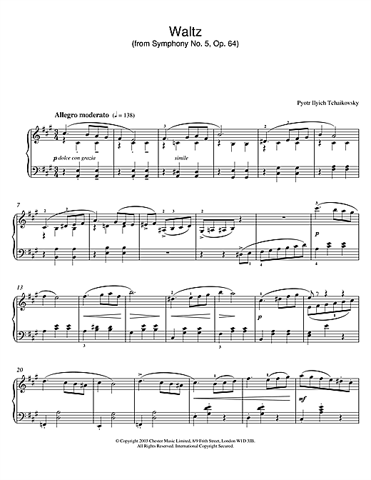 Waltz (from Symphony No. 5, Op. 64) Sheet Music