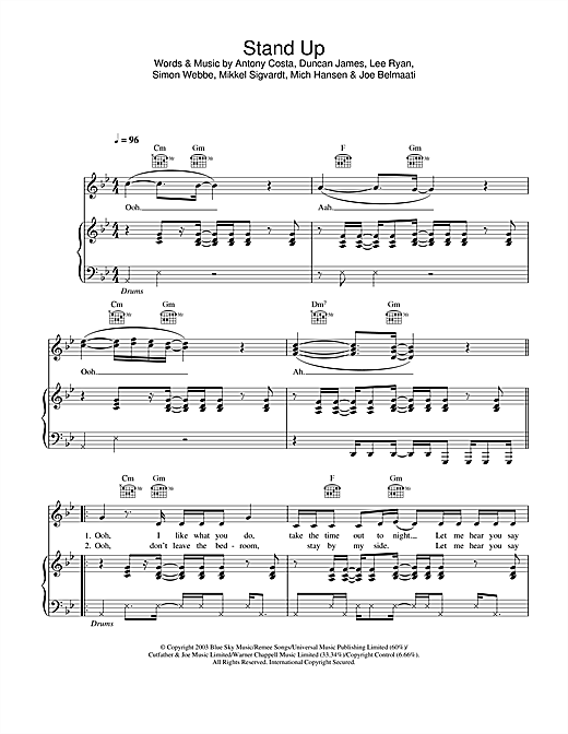 Stand Up Sheet Music