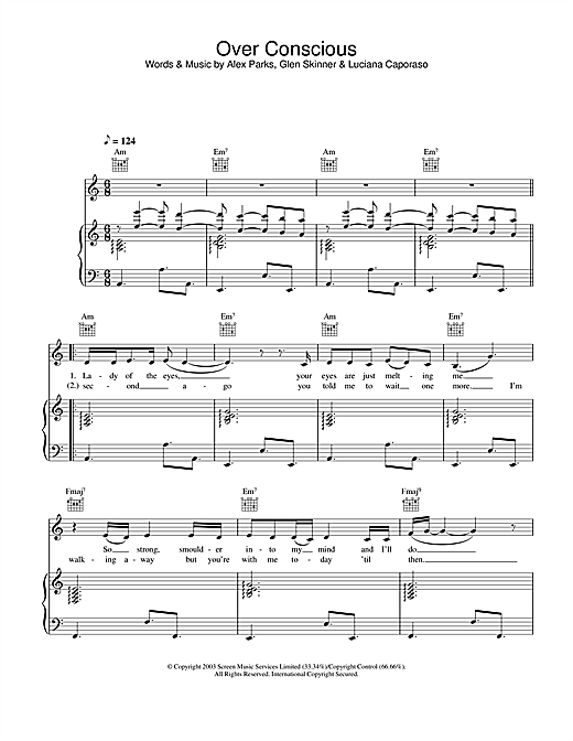 Over Conscious Sheet Music