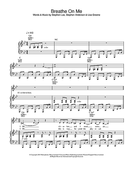 Breathe On Me Sheet Music