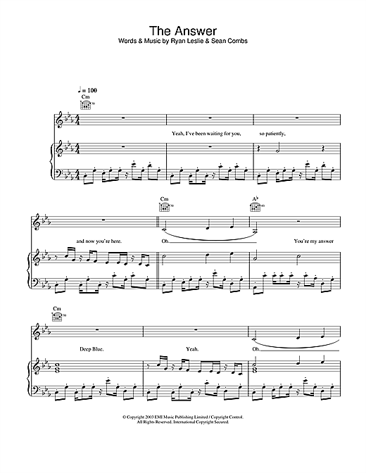 The Answer Sheet Music