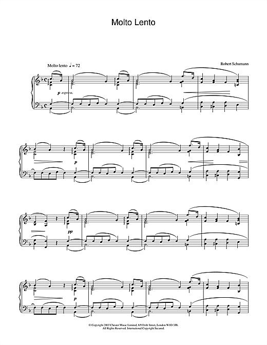 Molto Lento Sheet Music