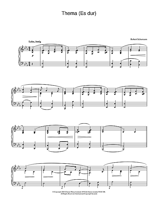 Thema (Es dur) Sheet Music