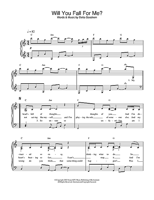 Will You Fall For Me? Sheet Music