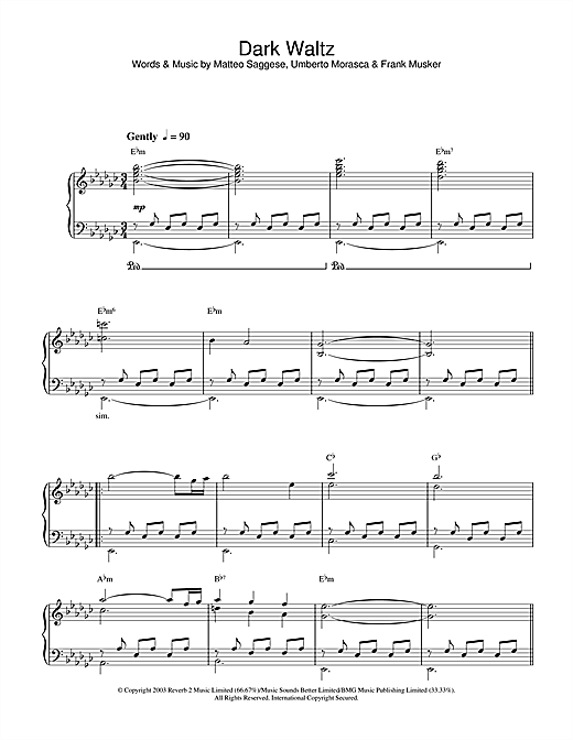 Dark Waltz Sheet Music