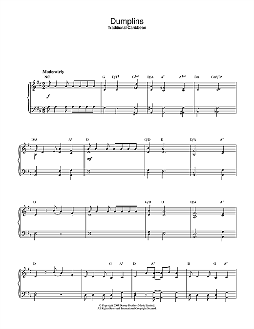 Dumplins Sheet Music