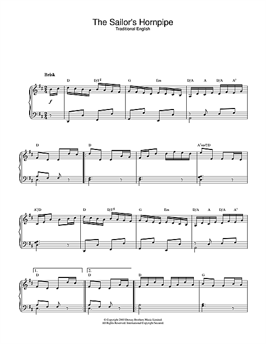 The Sailor's Hornpipe Sheet Music