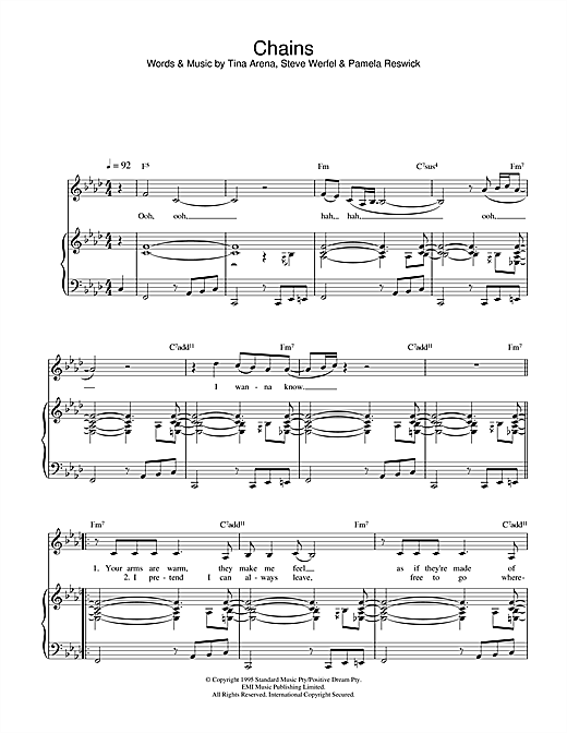 Chains Sheet Music