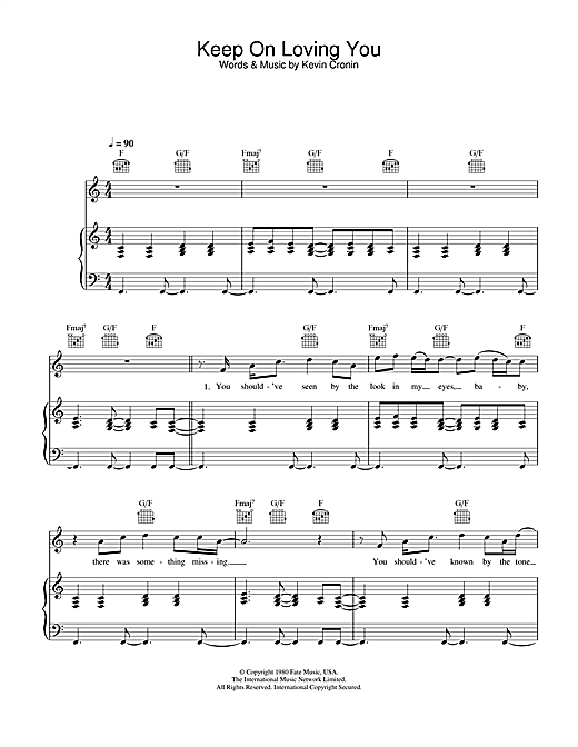 Keep On Loving You Sheet Music