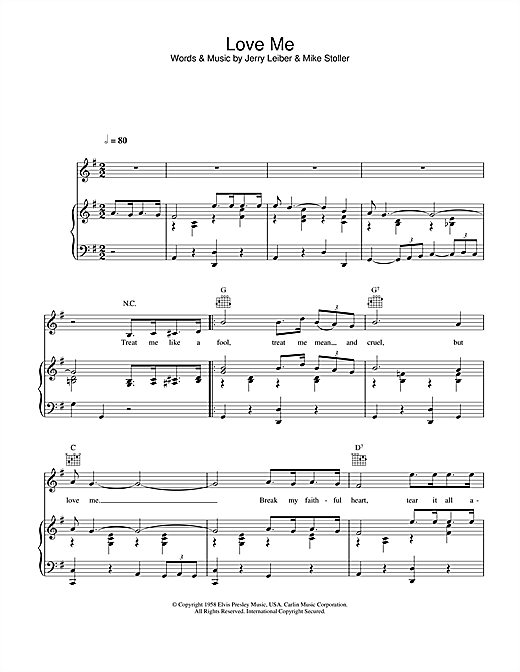 Love Me Sheet Music